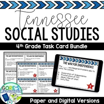 Tennessee Social Studies 4th Grade Task Cards BUNDLE