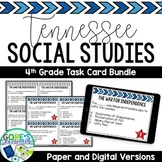 Tennessee Social Studies 4th Grade Task Cards BUNDLE