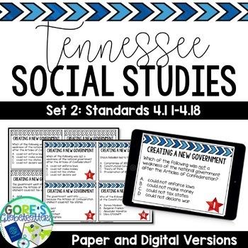 Tennessee Social Studies 4th Grade Task Cards Set 2