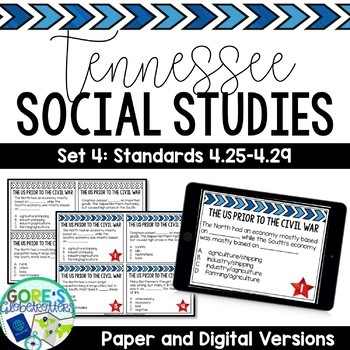 Tennessee Social Studies 4th Grade Task Cards Set 4