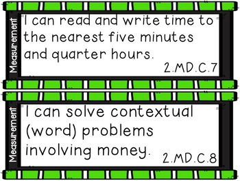 I Can Statements TN 2nd Grade ELA and Math - Tennessee Second Grade