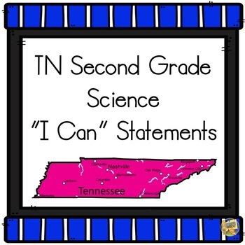 I Can Statements TN 2nd Grade Science 2018-19 - Tennessee Second Grade
