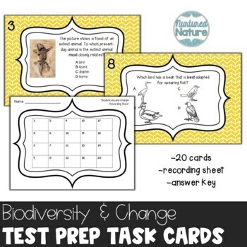 TN TCAP 5th Grade Science Review Task Cards ~ Biodiversity and Change