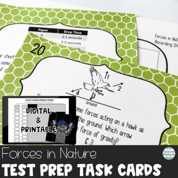 TN TCAP Prep 5th Grade Science Task Cards ~ Forces in Natu