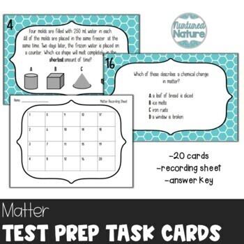 TN TCAP Prep 5th Grade Science Task Cards ~ Matter