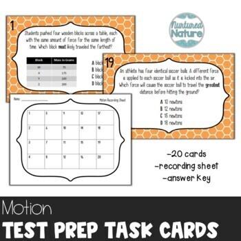TN TCAP Prep 5th Grade Science Task Cards ~ Motion