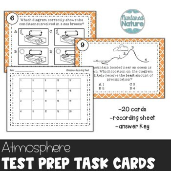 TN TCAP Prep 5th Grade Science Task Cards ~ The Atmosphere