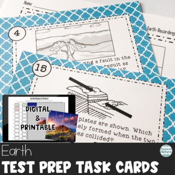 TN TCAP Prep 5th Grade Science Task Cards ~ The Earth