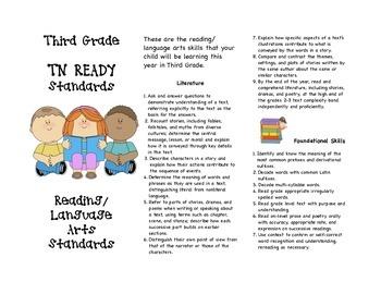 TNREADY Standards 3rd Grade Language Arts Brochure