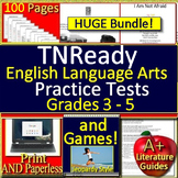 TNReady Test Prep Reading Bundle Grades 3 - 5 Assessments and Games ELA TCAP
