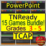 TNReady ELA TCAP Test Prep for English Language Arts - 15 Games Grades 3 - 5