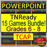 TNReady Test Prep ELA TCAP  for English Language Arts - 15 Games Grades 6 - 8