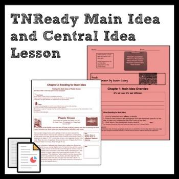 TNReady Main Idea and Central Idea Lesson and Practice