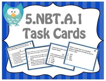 TNReady Prep: 5.NBT.A.1 Task Cards