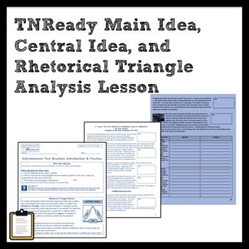 TNReady RI Lesson: MI, CI, Rhetorical Triangle, Dev. of CI Lesson + Practice