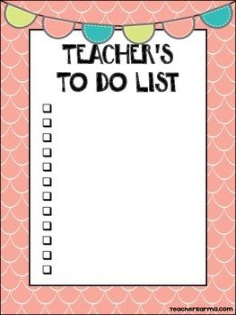 FREE ~ TO DO Lists for Teachers ~ 10~ FREEBIE ~ Organization Tool ~ Planning