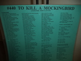 TO KILL A MOCKING BIRD  #440