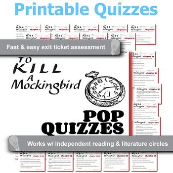 TO KILL A MOCKINGBIRD 24 Pop Quizzes Bundle