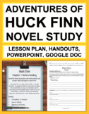 Huckleberry Finn Unit Plan: 43 NO PREP lessons!