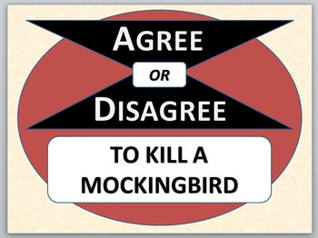 TO KILL A MOCKINGBIRD - Agree or Disagree Pre-reading activity