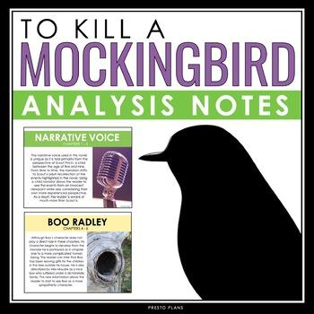 TO KILL A MOCKINGBIRD ANALYSIS NOTES
