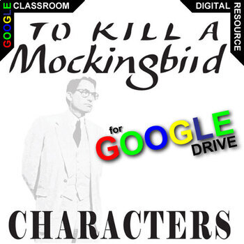 TO KILL A MOCKINGBIRD Characters Organizer Created For Digital