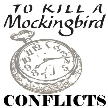 TO KILL A MOCKINGBIRD Conflict Graphic Organizer - 6 Types of Conflict