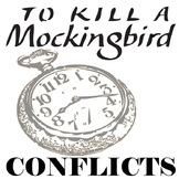 TO KILL A MOCKINGBIRD Conflict Graphic Organizer - 6 Types