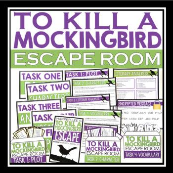 To Kill A Mockingbird Escape Room Novel Activity By Presto Plans