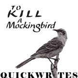 TO KILL A MOCKINGBIRD Journal - Quickwrite Writing Prompts