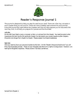 TO KILL A MOCKINGBIRD READER RESPONSE JOURNAL 1-2