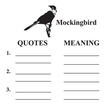 To Kill A Mockingbird Symbols Analyzer By Created For Learning Tpt