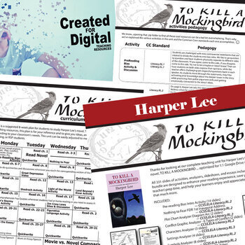 TO KILL A MOCKINGBIRD Unit Plan Novel Study (Print & Digital DISTANCE LEARNING)