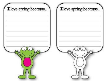 TOAD-ALLY Ready for Spring. Spring Bulletin Board Set and Writing Assignment!