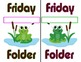 TOAD-Ally Awesome Folder Covers: Frog or Toad Theme