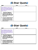 Activator or Summarizer: 5-Star Quote (any text)