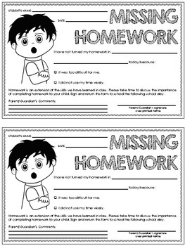 TODAY IN CLASS… (A Quick Teacher-Parent Communication Forms)