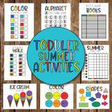 TODDLER SUMMER ACTIVITIES - Counting, Letters, Shapes, Col