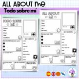TODO SOBRE MI- All about me- Spanish- English