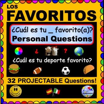 TODO SOBRE MÍ- ¿Cuál es tu __favorito(a)? SPANISH QUESTIONS