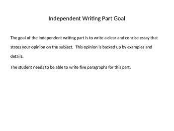 TOEFL Independent Writing