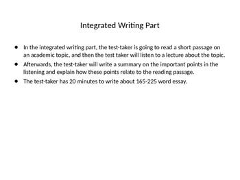 TOEFL Integrated Writing