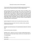 TOEFL Reading Worksheet: Sentence Insertion Question