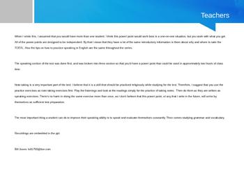 TOEFL Speaking Integrated Tasks 3 & 4