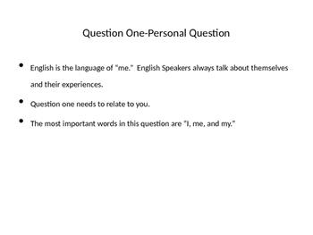 TOEFL Speaking Question One