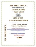 TOEFL iBT Reading  Made Easy Seminar :Evaluation Tool