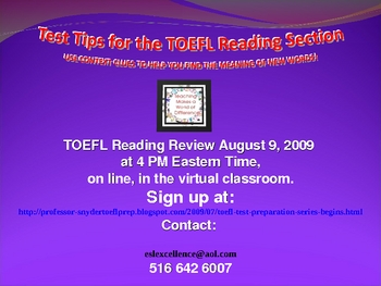 TOEFL iBT Reading Preparation Presentation