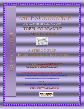 TOEFL iBT Reading  Test Tips