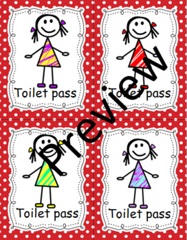 TOILET AND NURSE PASSES