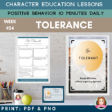 TOLERANCE Positive Behavior | Daily Character Education |
